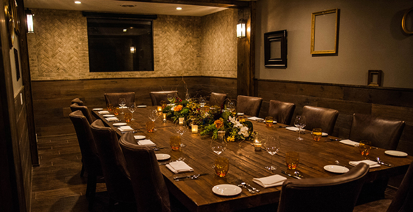 Avvino Plays Host To The Meyers Den Private Dining Space That Holds Up 20 Guests Room Evokes An Old Time Atmosphere Due Its Dark Wood